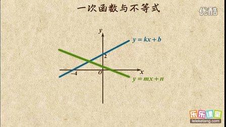 一次函数与不等式
