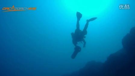 Soverato潜水, OrcaTorch D610+分体式水肺潜水手电筒水下实拍