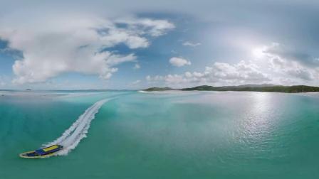 白天堂海滩和汉密尔顿岛