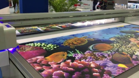 瓷砖背景墙UV打印机打印3D海洋