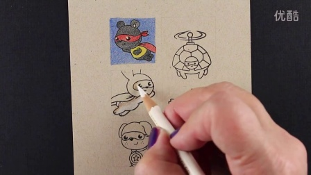 Superhero Card for kids - Caped Cuties