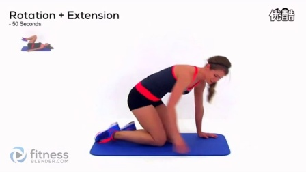 【FitnessBlender】8分钟腹部锻炼减肚子脂肪hc2656