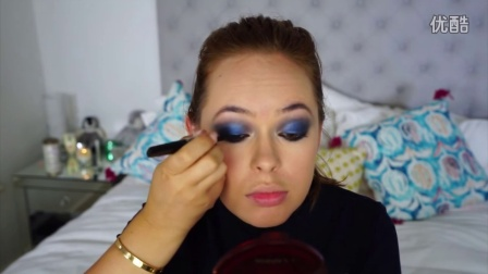 Khloe Kardashian Blue Smoky Eye Makeup Tutorial