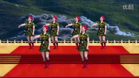 含小北广场舞【 祝贺88周年八一建军节】_串烧原创加分解