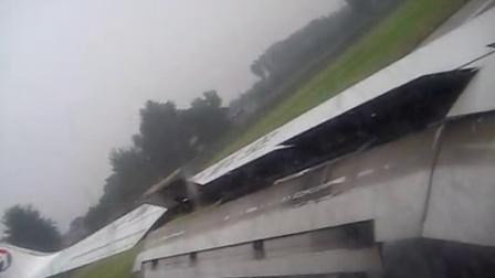 mu5293太原暴雨起飞,北京首都机场T2安全落地