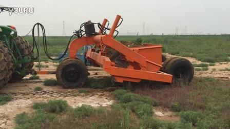 拖式铲运机 土地整平 远距离调土 激光平机