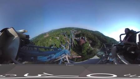 带上VR坐上虚拟过山车感受野鹰过山车的刺激