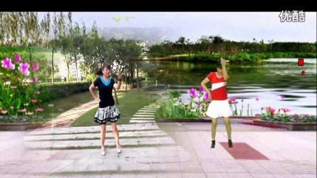 建阳村广场舞【我不是花瓶】 姐妹异地合  编舞一凤凰香香