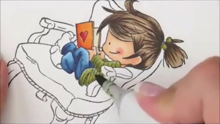 Cozy Reading Copic Coloring Card Kit