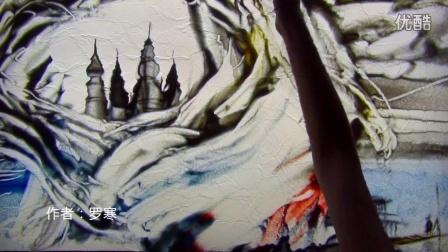 中国第一美女沙画大师-罗寒沙画艺术家-沙画大师罗寒-彩云之南