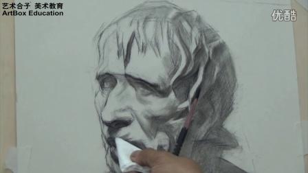上海艺术合子美术教育毛天程素描石膏海盗示范