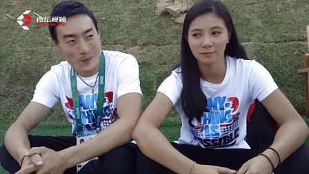 直播里约:秦凯何姿奥运赛场喂狗粮