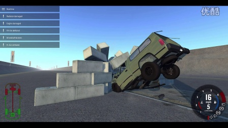 Crazzzy crashing test from BeamNG Drive