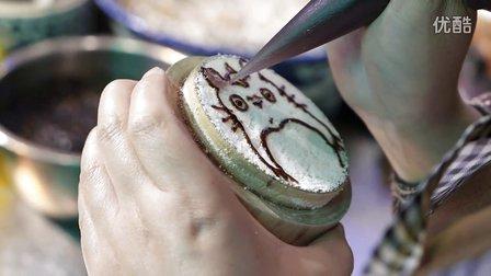 【大吃货爱美食】歪果仁食在中国:西安街头手工制作的迷你龙猫镜糕 160816