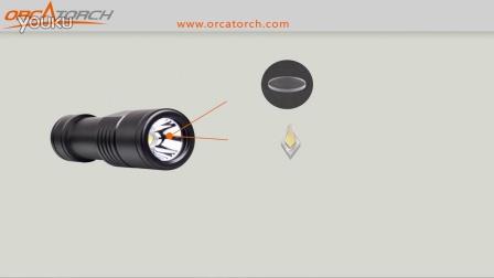 虎鲸OrcaTorch D520潜水手电筒