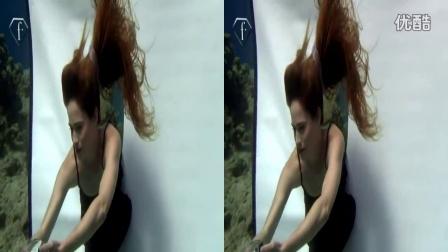 3DVR 左右格式  水下摄影美女1