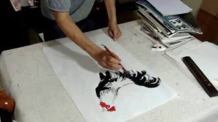 写意国画公鸡的画法(剪辑版)2