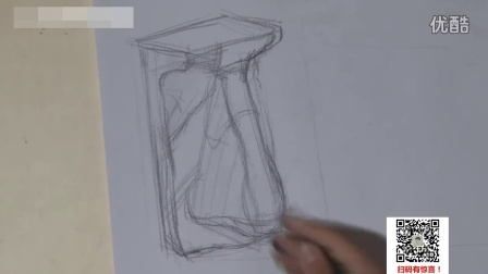 零基础自学素描绘画透视学基础_结构素描静物_素描 几何体色彩教学