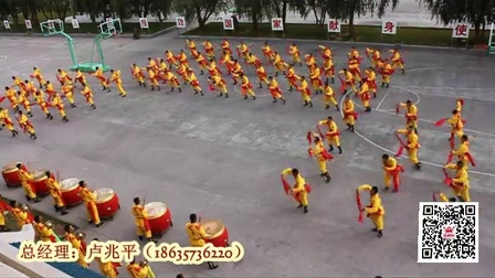 100人腰鼓队,威风锣鼓卢兆平
