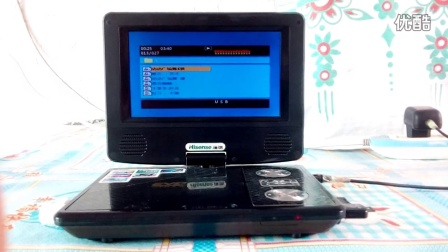 海信便捷式液晶电视听mp3功能。