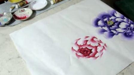 红色牡丹花画法