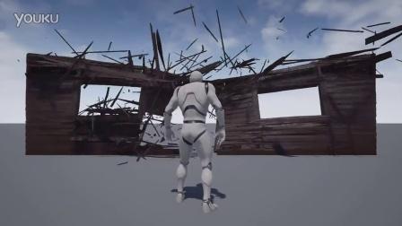 houdini在虚幻引擎中模拟仿真木头破碎