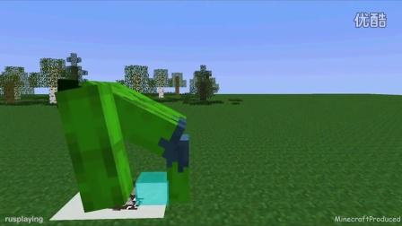 怪物学校-骑猪 跳水 我的世界动画