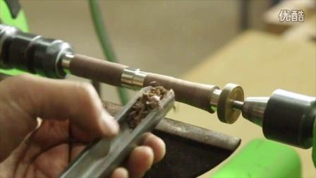 黑胡桃钢笔制作演示 木工制笔 大猩猩凝胶表面处理 制笔套件 堤旁树