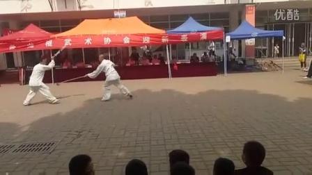 2016齐鲁工业大学盘龙棍社团迎新活动