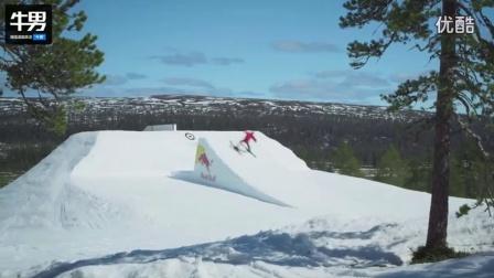 滑雪达人大秀特技 挑战各种高难度_超清