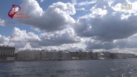 圣彼得堡。水上游览。视频短片