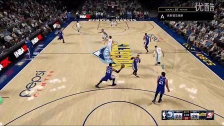 我的NBA 2K16 垄断全场的实力