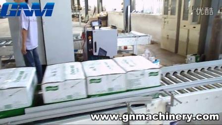 机器人码垛机在工厂试机的视频