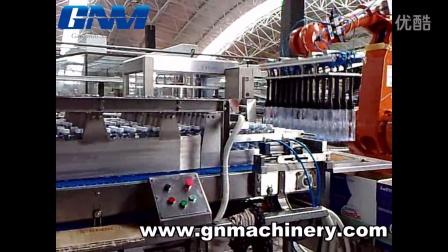 矿泉水是这样装箱的,南京钢诺装箱机器人