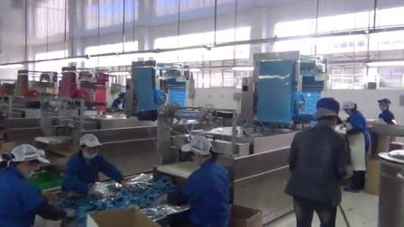 康贝特食品包装机械的包装机:豆制品面筋包装现场使用