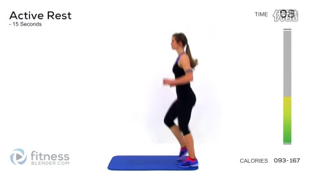 Fat Burning Cardio Workout - 37 Minute Fitness Blender C