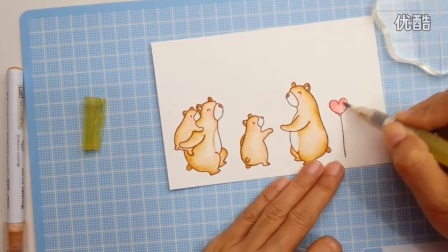 Mama Elephant - Cub Cuddles Window Card and Coloring with Zig Clean Color