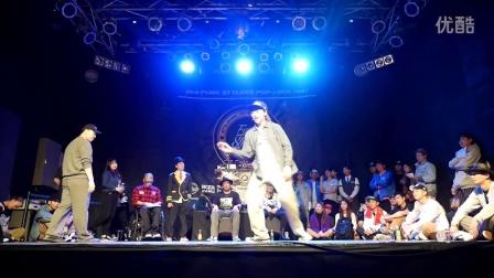 【太嘻哈】J ONE vs. JUHEE - Round of 16 (POPPIN) @Funk Stylers Battle 2016