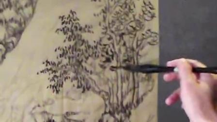 向德金老师教您临习仿古画 2016.05.26 仿古画画法 2-1 仿古画点叶示范 DSCF5330