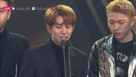 161116 2016 Asia Artist Awards Block B - 受赏
