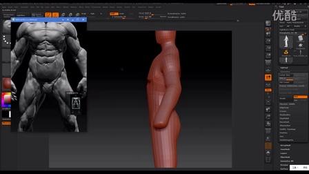 zbrush人体肌肉模型制作二影视后期maya基础模型【云图动漫学院】
