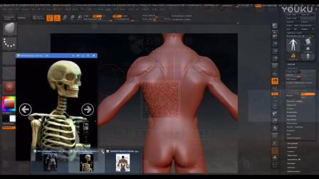 zbrush人体肌肉模型制作三影视后期maya基础模型【云图动漫学院】