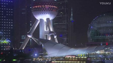 0161-上海夜景一组2影视素材