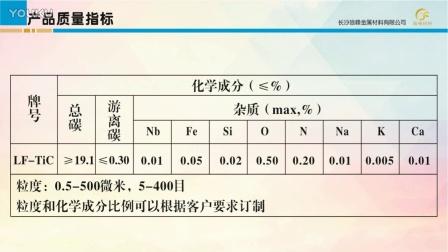 碳化钛粉末应用和特征