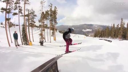 地形公园双板滑雪技巧欣赏