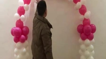 全新尾巴气球拱门_标清