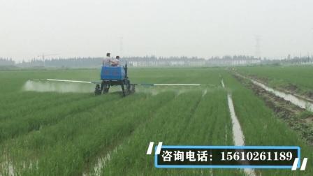 3WPZ-700自走式打药机在水田工作视频