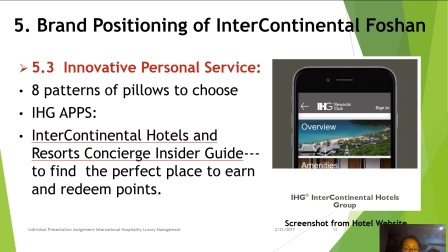 Luxury Brand Power&Lifecycle:Investigation of InterContinental Foshan--Ding Ying