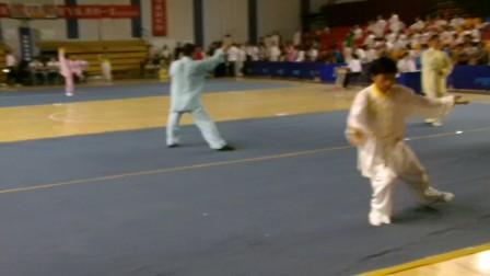安徽省第五届传统武术比赛潘功奉56式太极拳第一名