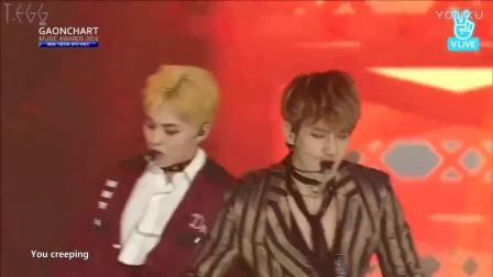 EXO Monster & Lotto - 第六届Gaon Cahrt颁奖礼 中文字幕 170222